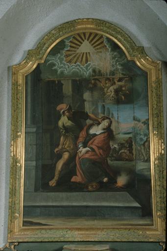 Tableau : Le Martyre de sainte Lucie.