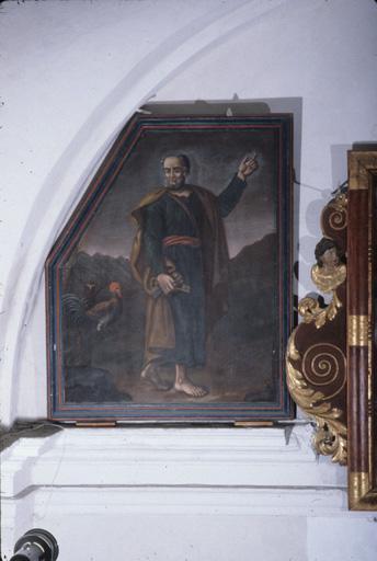 tableaux (2) (en pendant) : saint Pierre apôtre, saint Paul de Tarse