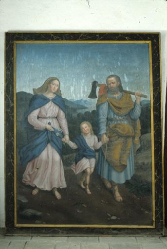 Tableau : Sainte Famille.