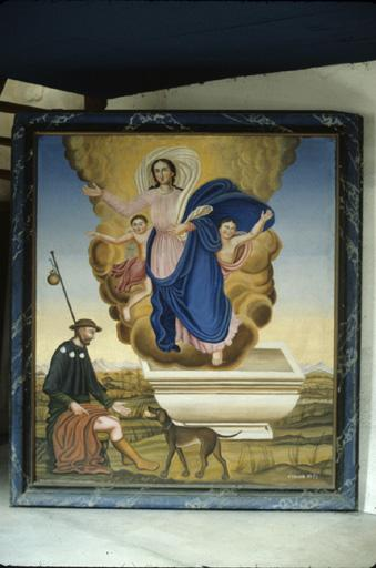 Tableau : Assomption, saint Roch de Montpellier.