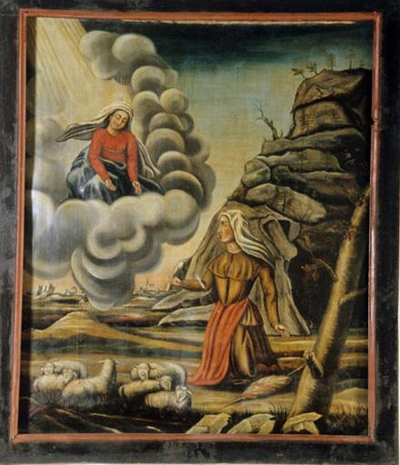 Tableau : L'Apparition de la Vierge à une bergère