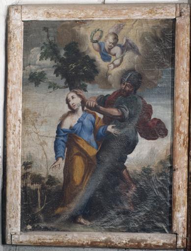 tableau : le martyre de sainte Apollonie d'Alexandrie