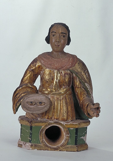 Statue-reliquaire : Sainte Lucie