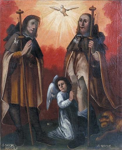Tableau : Saint Jacques le Majeur et saint Roch en pèlerins