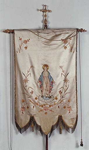 Bannière de procession : Saint Crépin et saint Crépinien, L'Immaculée Conception