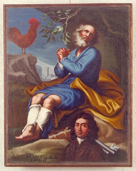 Tableau : Ex-voto à saint Pierre