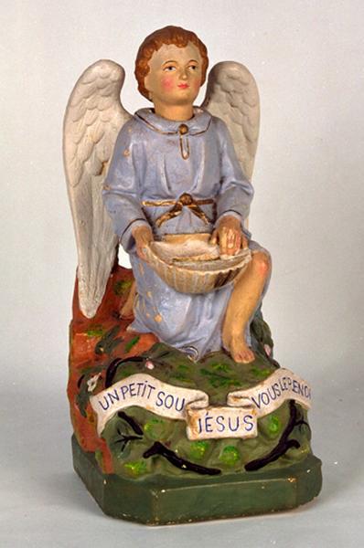 Statue-chandelier d'autel (statuette) : Ange