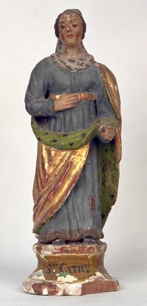Statuette : Sainte Catherine d'Alexandrie (?)