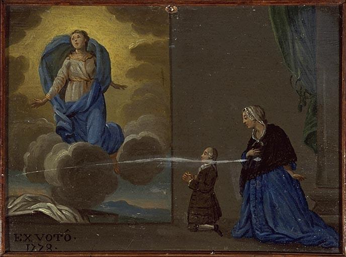 Tableau, ex-voto : Prières à la Vierge