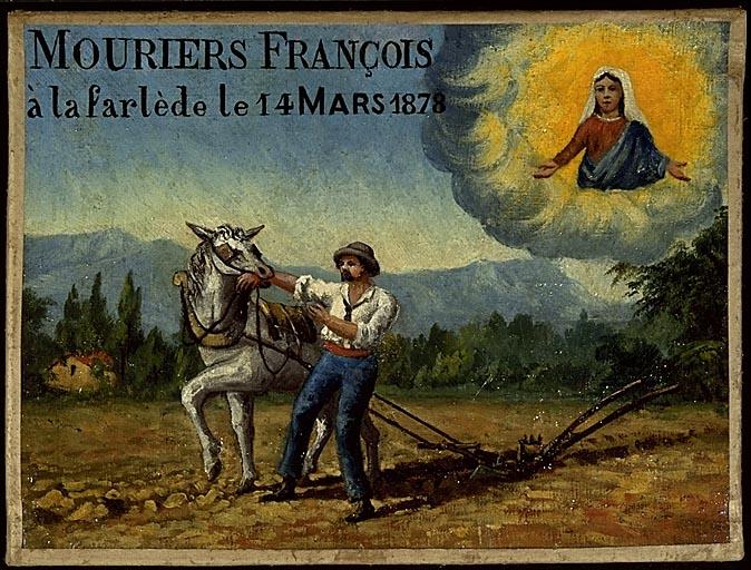 Tableau, ex-voto : François Mouriers mordu par son cheval