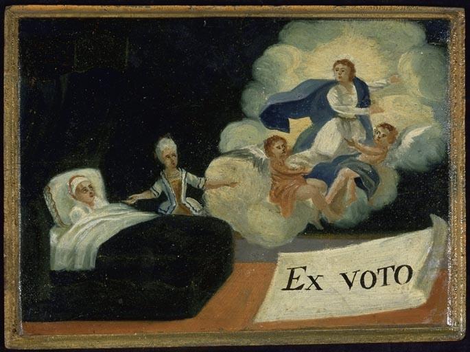 Tableau, ex-voto : Demande de guérison d'un homme (n° 4)