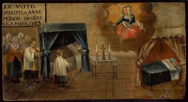 tableau, ex-voto : Demande de guérison de Joseph et Anne Peiron