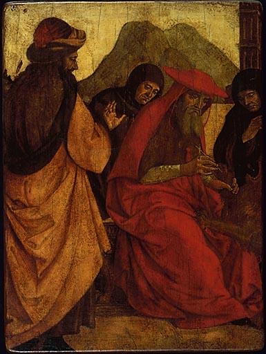 Photographie (?), ex-voto : Saint Jérôme retirant l'épine de la patte du lion