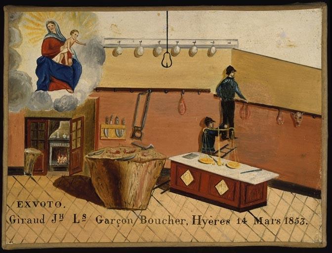 tableau, ex-voto : Chute de J.L. Giraud