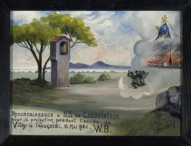 Tableau, ex-voto : Exode de Vitry-le-François