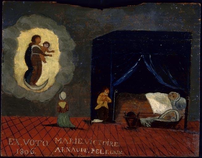 tableau, ex-voto : Demande de guérison de Marie Victoire Arnaude Pelegrin