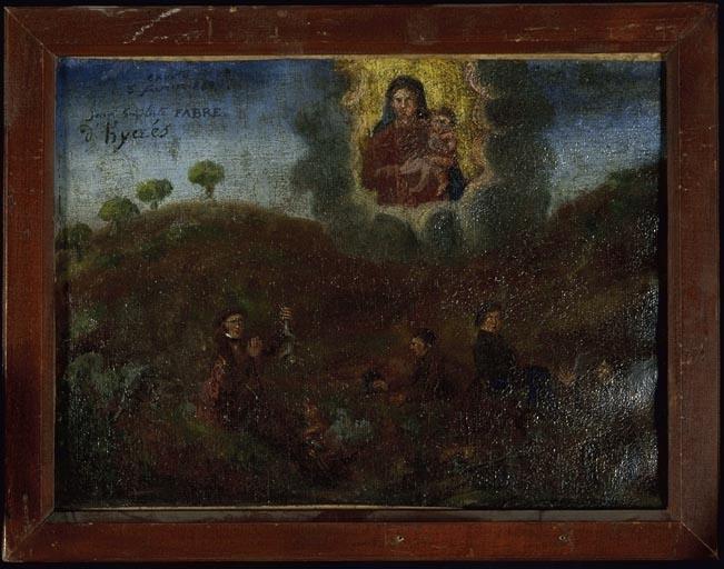 tableau, ex-voto : Accident de chasse de Jean Baptiste Fabre
