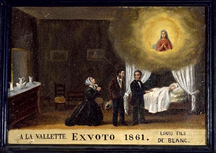 tableau, ex-voto : Demande de guérison de Louis Blanc (No 2)