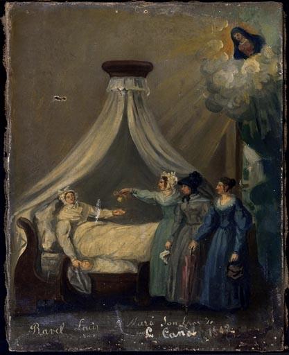 tableau, ex-voto : Demande de guérison d'une femme (No 8)