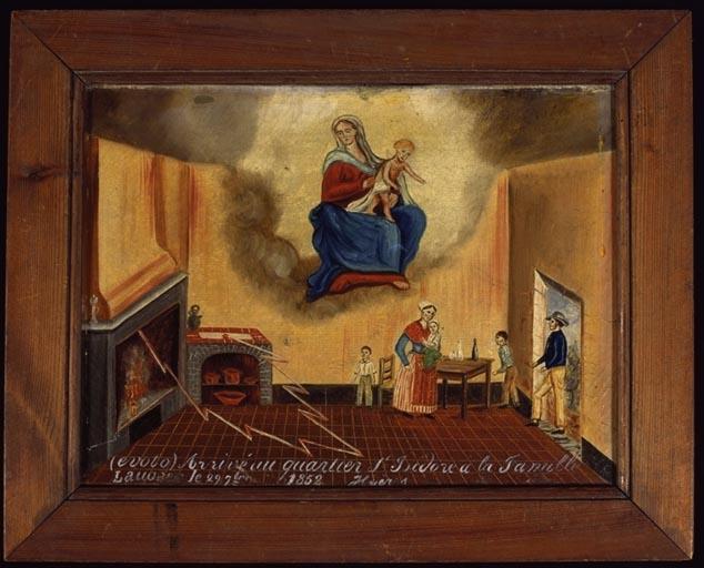 tableau, ex-voto : Foudre dans la maison de la famille Laugier