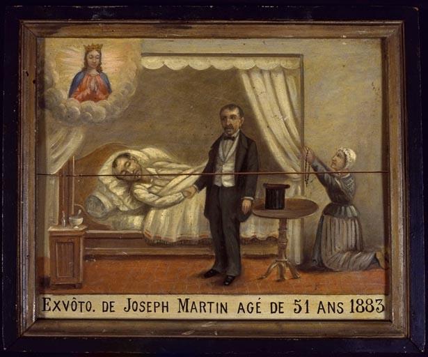 Tableau, ex-voto : Demande de guérison de Joseph Martin