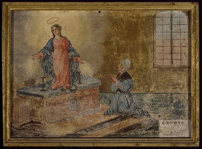 tableau, ex-voto : Femme en prière (No 3)