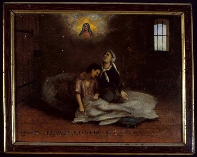 tableau, ex-voto : Demande de guérison de Auguste Raynaud
