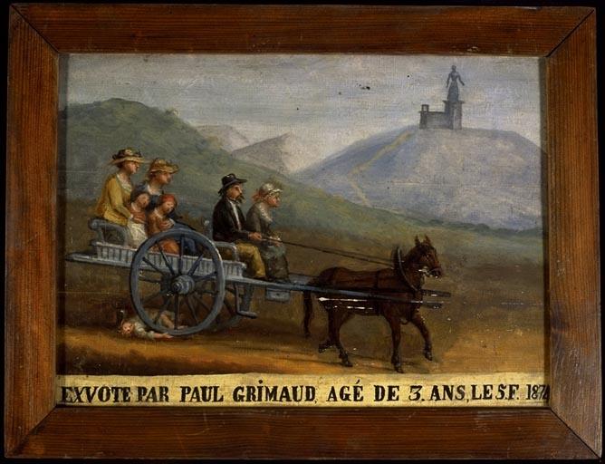 tableau, ex-voto : Accident de charrette de Paul Grimaud