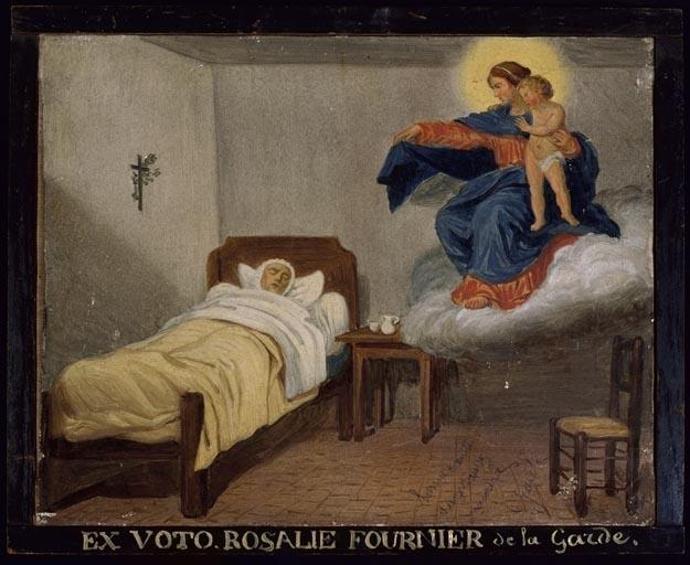 tableau, ex-voto : Demande de guérison de Rosalie Fournier