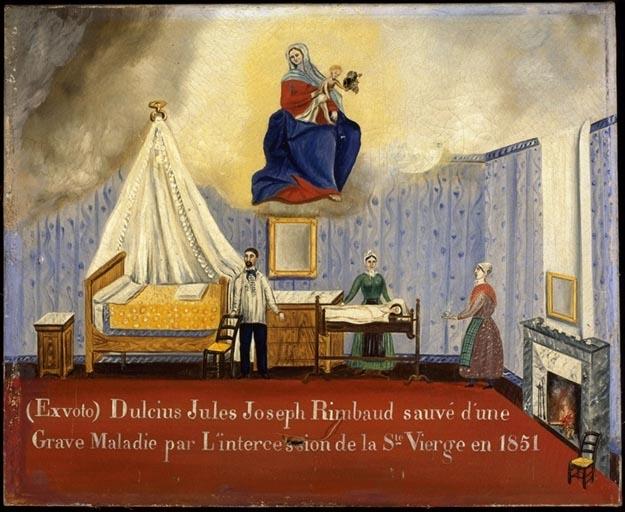 tableau, ex-voto : Guérison de Dulcius Jules Joseph Rimbaud