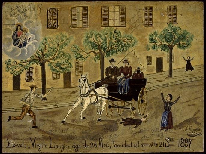 tableau, ex-voto : Accident de diligence de Virgile Laugier