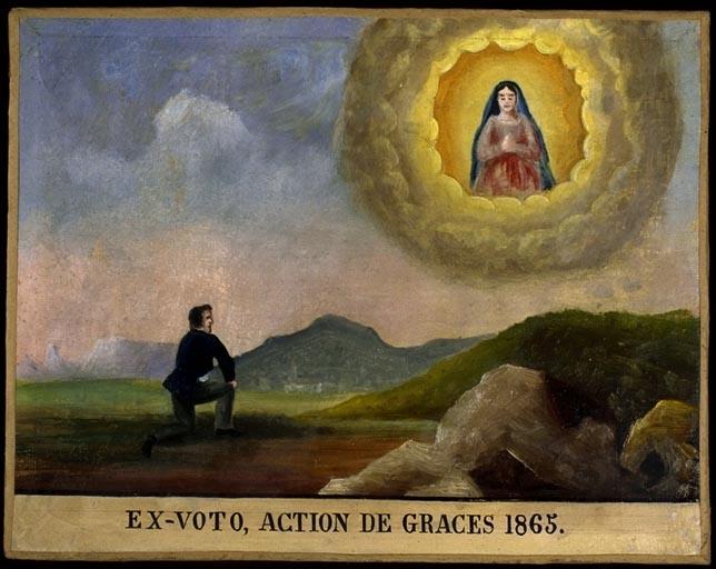 tableau, ex-voto : Remerciement à la Vierge
