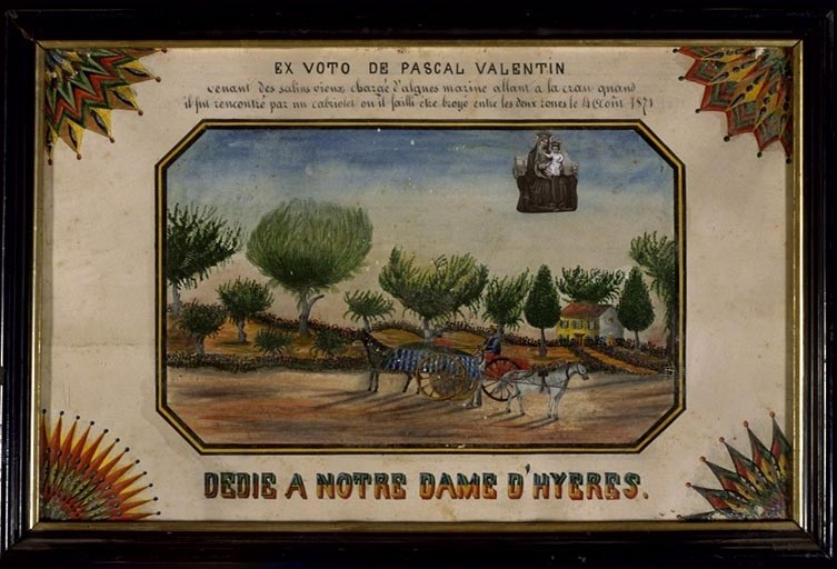 tableau, estampe, ex-voto : Accident de Pascal Valentin