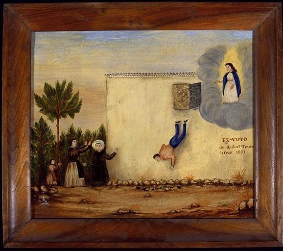 tableau, ex-voto : Chute de Toussaint Aubert