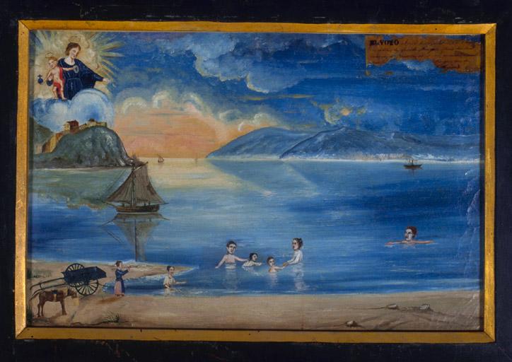 tableau, ex-voto : Bain de mer