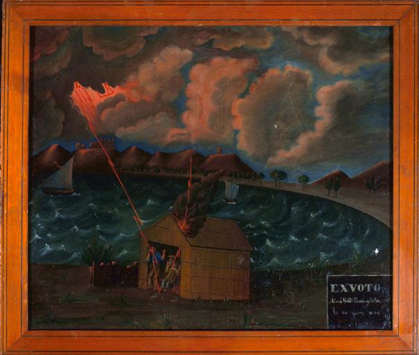 tableau, ex-voto : Foudre sur la cabane de Aimé Théodore Barbugelata