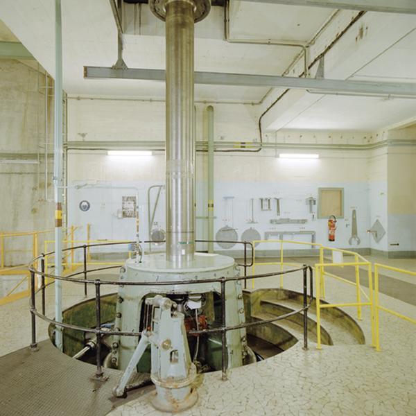 Ensemble de deux turbines de type francis et leurs alternateurs triphasés
