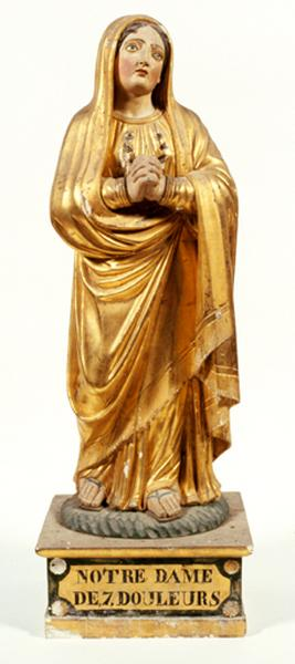 Statuette : Notre-Dame des sept douleurs