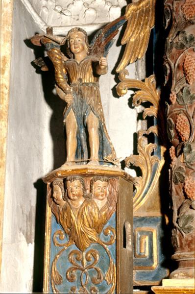 2 statues (paire, en pendant, statuette) : ange