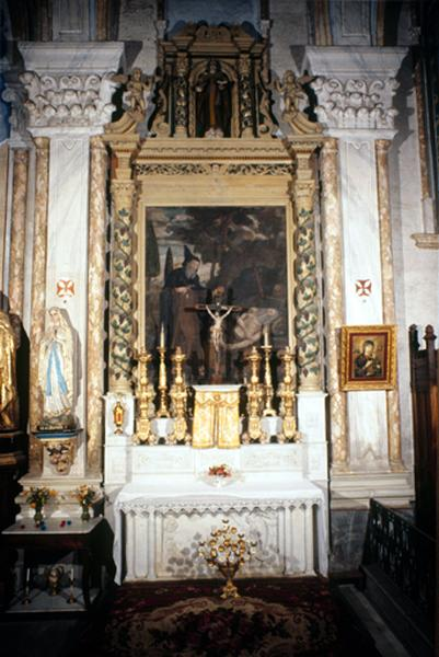 Retable (retable architecturé) (2), retable de l'autel de saint Antoine abbé
