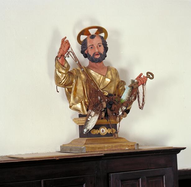 Buste-reliquaire utilisé comme buste de procession : Saint Pierre