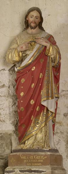 statue (petite nature) : Sacré Coeur (N° 1)