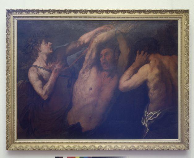 tableau : Apollon écorchant Marsyas