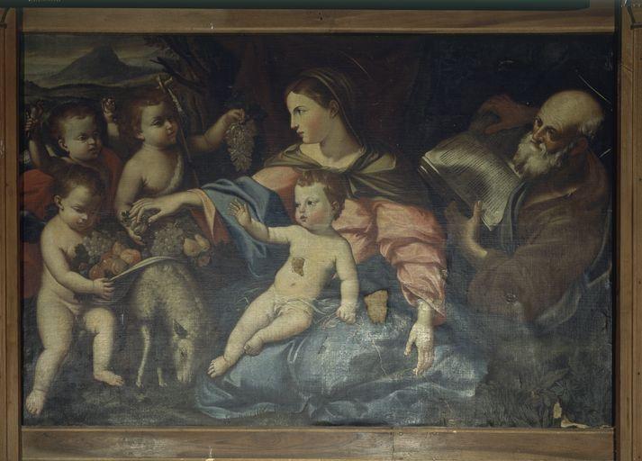 tableau : La Sainte Famille au repos