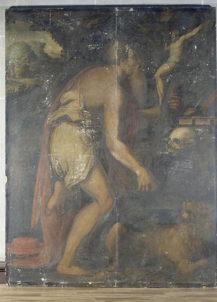 Tableau : Méditation de saint Jérôme