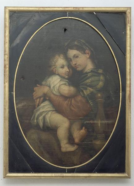 tableau : Vierge à l'Enfant dite Vierge à la chaise