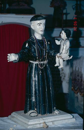 Statue (demi-nature) : Saint Antoine de Padoue et l'Enfant Jésus