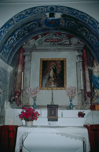 Autel, retable (autel secondaire de la confrérie du Rosaire)