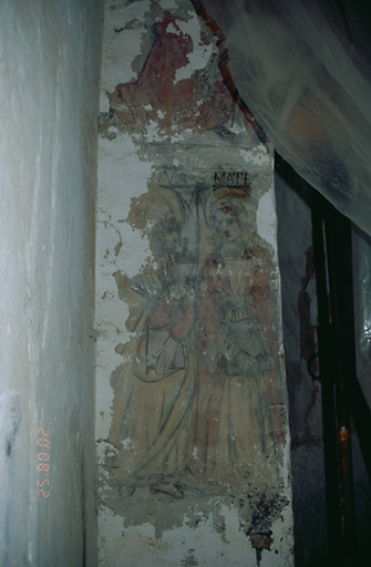 Peinture monumentale : Saint Mathieu et saint Thomas, figures, ornementation
