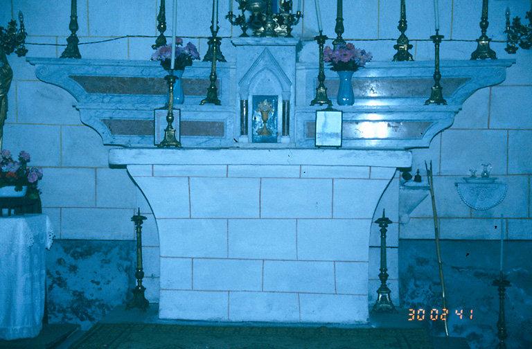 Le mobilier de la chapelle Notre-Dame de Lavasina